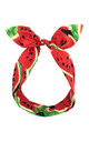 Red Juicy Watermelon Wired Headband by LULU IN THE SKY