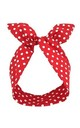Red Polka Dot Wire Headband by LULU IN THE SKY