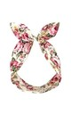 Ivory Vintage Floral Wired Headband by LULU IN THE SKY
