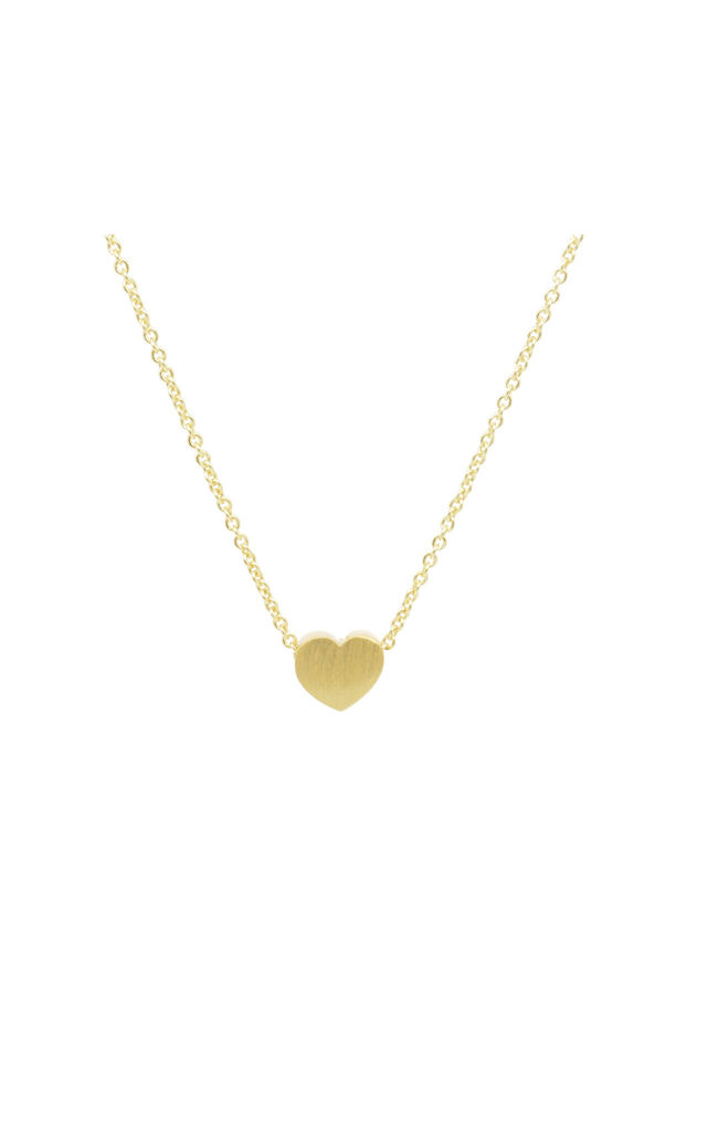 Heart Necklace in Gold by White Leaf