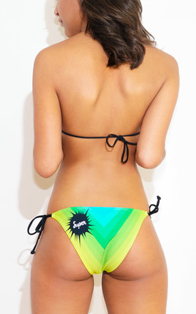 Rainbow Road Bikini - Green by *BY COLORSUPER