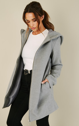 Light Grey Zip Coat by VILA