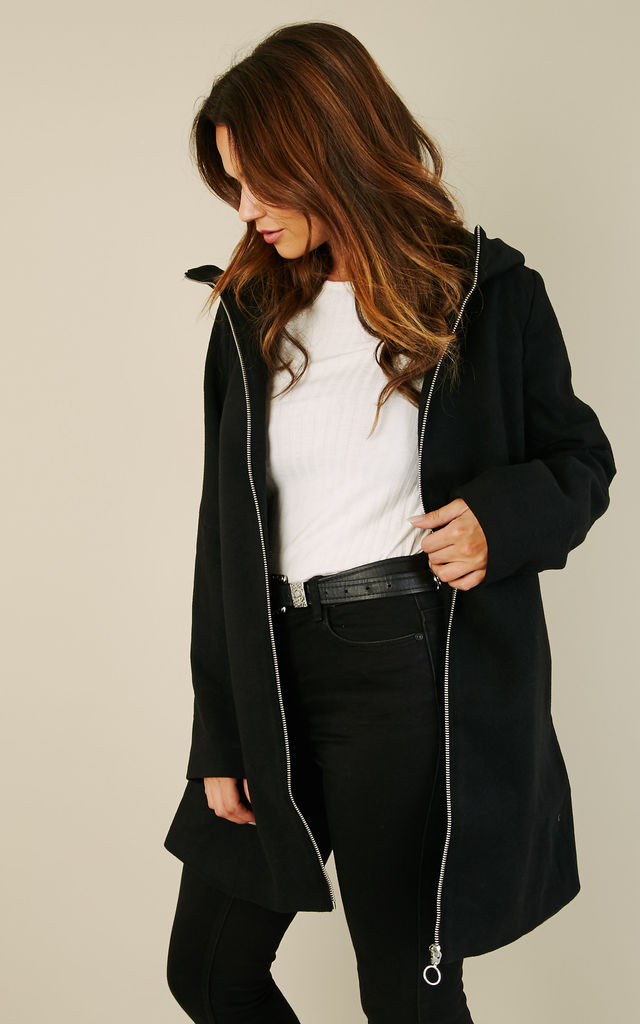 Black Zip Coat by VILA