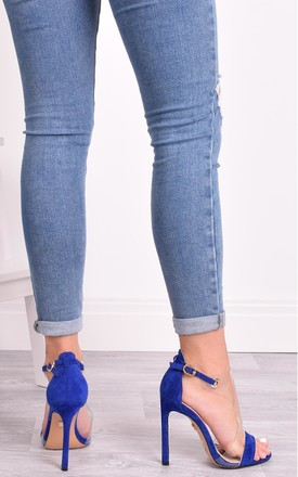 Talitha Blue Perspex High Heels by Solewish