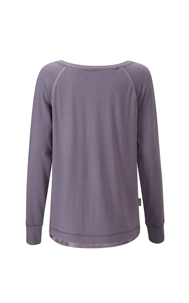 Long Sleeve Lounge Top Smokey Pearl by Pretty You London