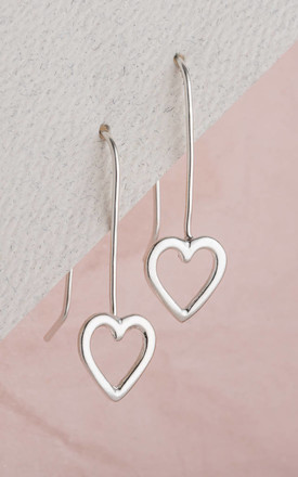 Heart Hanging Earrings in 925 Sterling Sliver by Posh Totty Designs