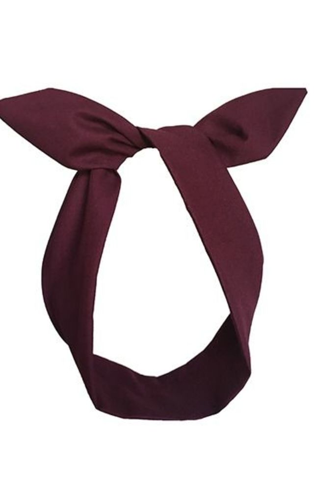 Burgundy Wired Headband by LULU IN THE SKY