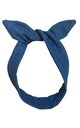 Blue Denim Wired Headband by LULU IN THE SKY