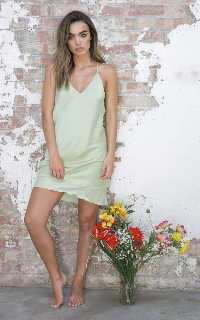 Slip Dress Lime by Cheeky's