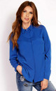 Blue Loose Classic Blouse With Long Sleeves by AWAMA