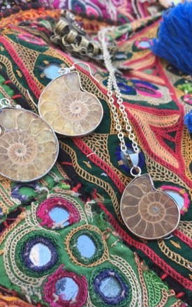Ammonite whirl shell pendant necklace by Lovelock jewels