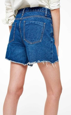 Raw Hem Denim Shorts by Momokrom