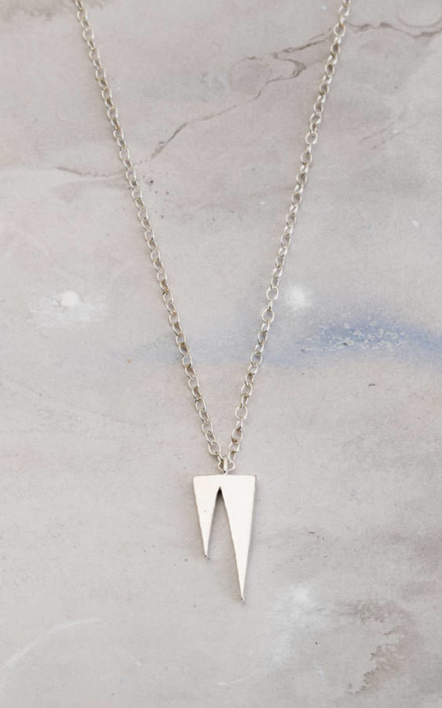 Icicle Necklace in Sterling Silver by Posh Totty Designs