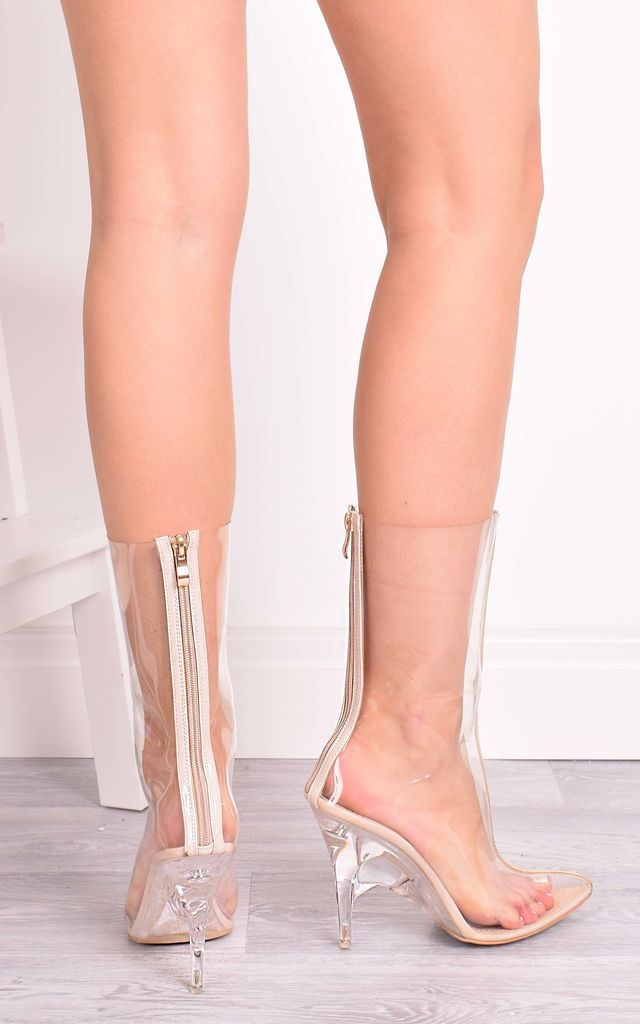 Luna Clear Perspex Ankle Boots by Solewish