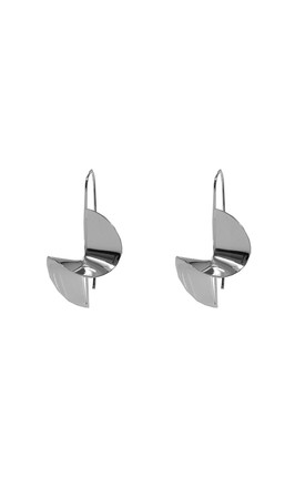 Twisted Pull Through Earrings - Silver by Pretty Lavish