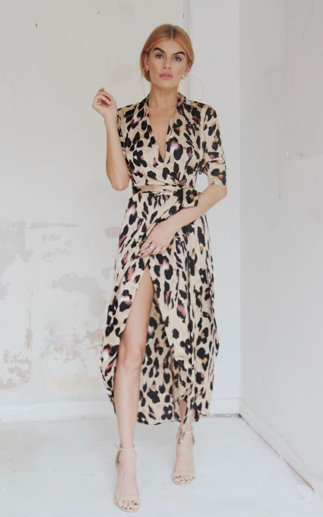 Satin Maxi Leopard by Never Fully Dressed