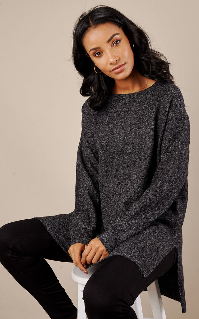 Dark Grey Long Sleeved Open Neck by VM