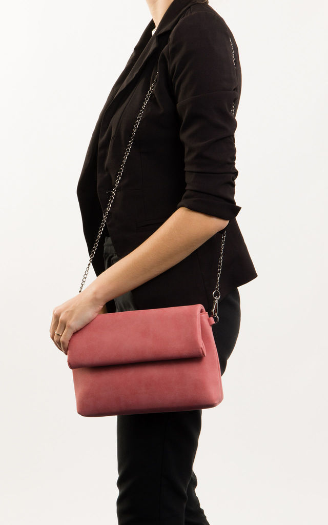 Sara Envelope Clutch Bag In Pink by KoKo Couture