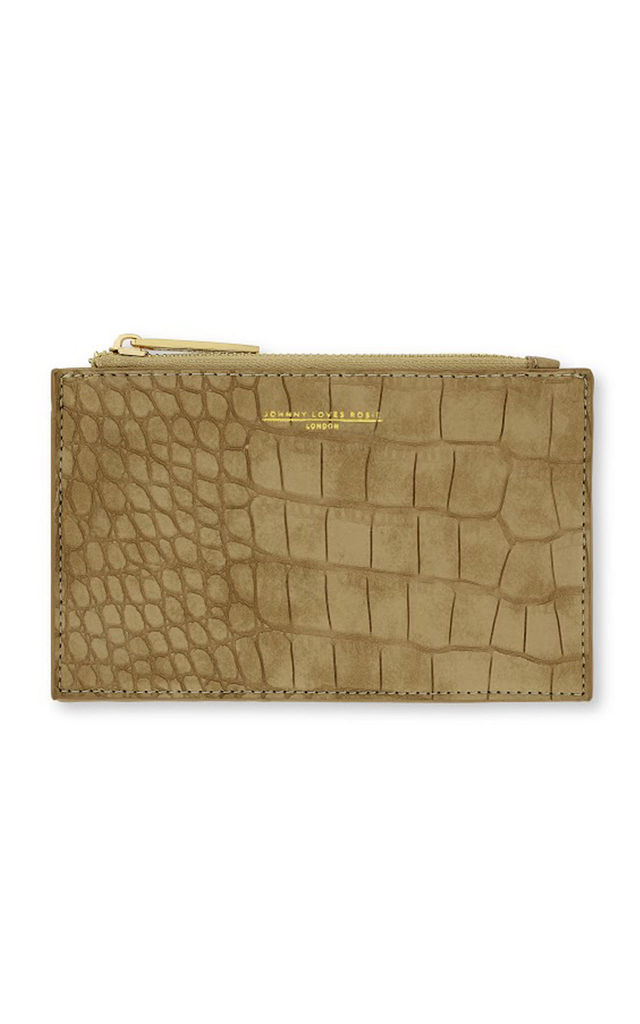 Johnny Loves Rosie Nude Snakeskin Coin Purse by Johnny Loves Rosie