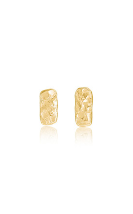 Solid Gold Bar Stud Earrings by Lily Flo Jewellery