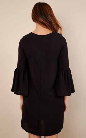 Black A Line Bell Sleeve Dress by Glamorous