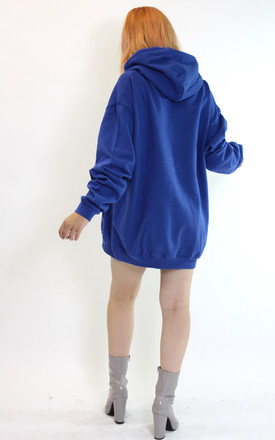 Oversized Hoodie in Royal Blue Jumper Dress by Save The People