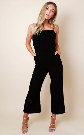 Lexi Linen Jumpsuit - Black by Pretty Lavish