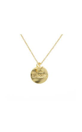 'Dream' Necklace In Gold by White Leaf Product photo
