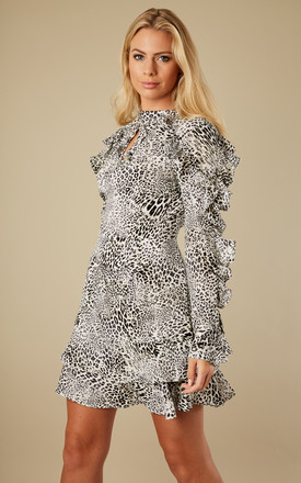 Dark Grey Leopard Dress by Glamorous