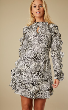 Dark Grey Leopard Dress by Glamorous Product photo