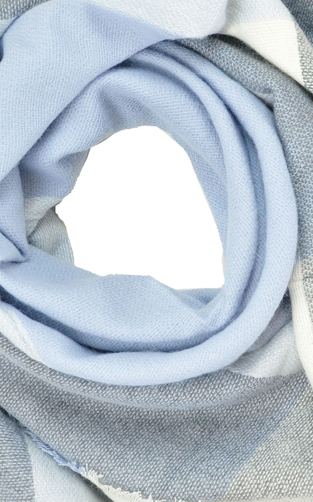 Scarf in light blue/grey check by GOLDKID LONDON