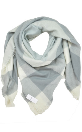Scarf in grey check by GOLDKID LONDON