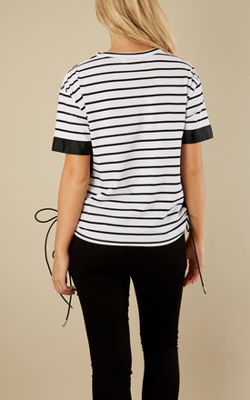 White and Black Stripe Oversized Top by Glamorous