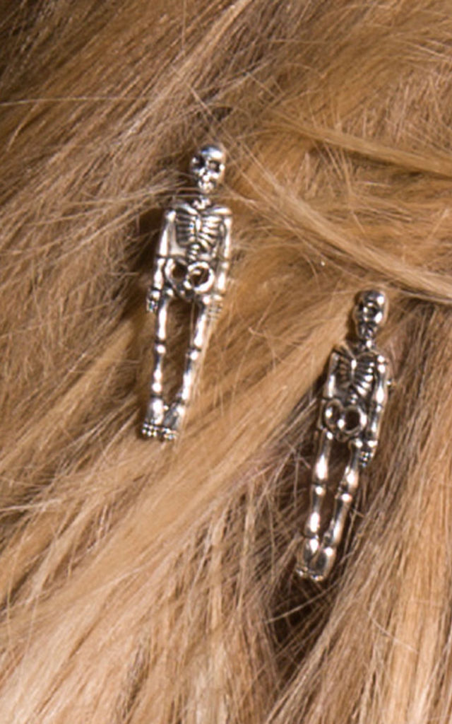 Halloween Hair Clips Skeleton by Stephanieverafter
