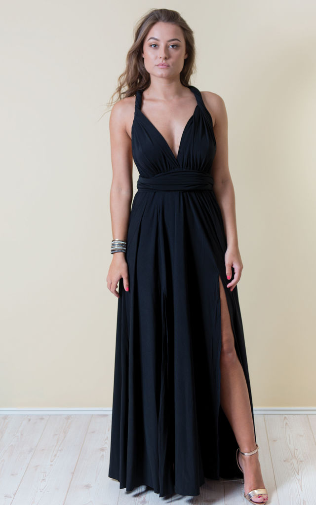 Goddess Multiway Maxi Dress - Black by Lily Rose Boho