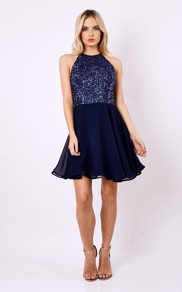 Sequin Skater Dress