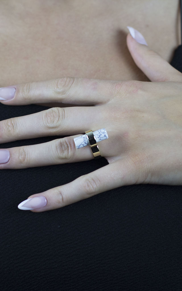 Kylie Marble Ring by AVAAYA