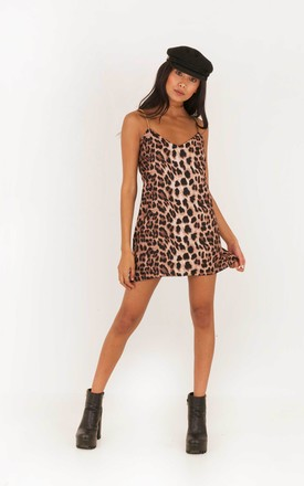 Night Rider Chain Strap Mini Dress - Leopard Print by Indigo East
