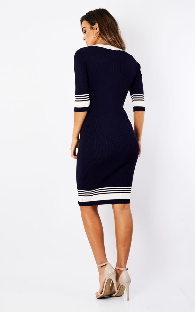 Blue 'Leon' Dress by Fever London