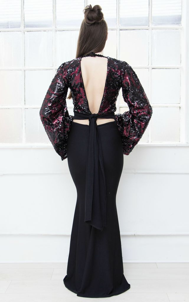 DARK ANGEL backless gown by Dolls Of Decadence