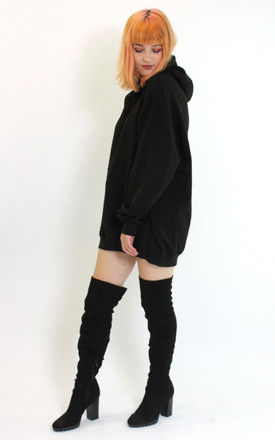Oversized Hoodie in Black Jumper Dress Tops by Save The People