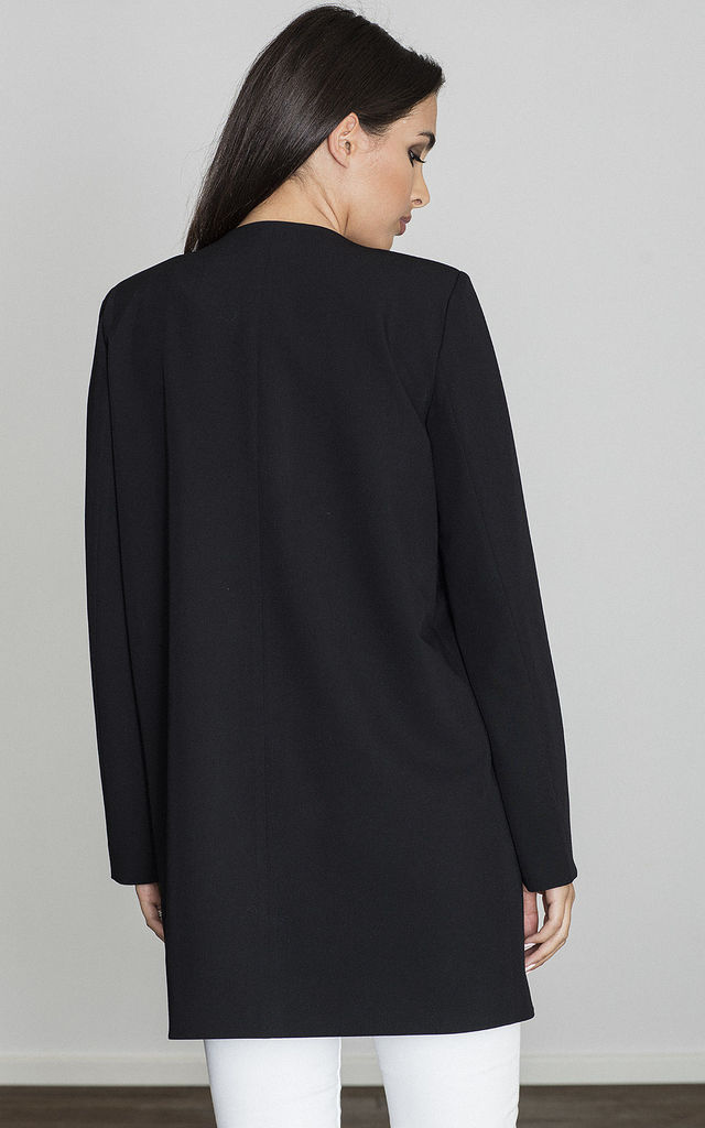 Black Cape Coat without Fastening by FIGL