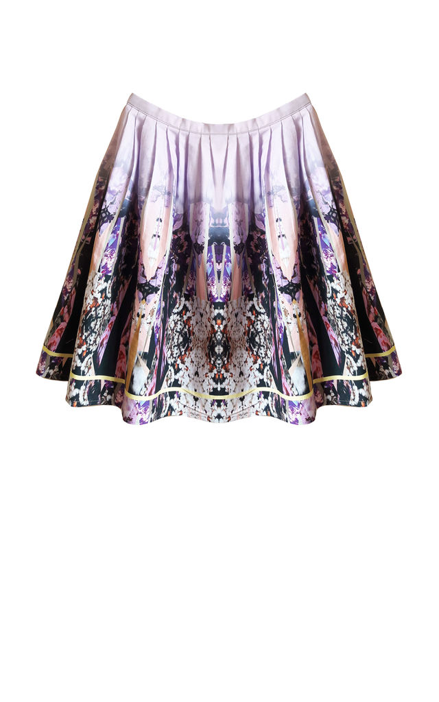 Ira floral cotton digital print skirt by Silence Beyond Syllables