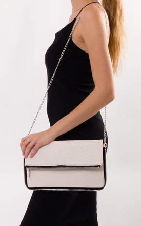 Louise Faux Leather Clutch Bag in Beige by KoKo Couture