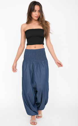 2 in 1 Harem Pants and Jumpsuit in Denim by likemary