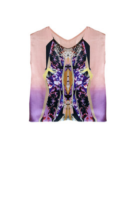 Yuha silk print blouse by Silence Beyond Syllables