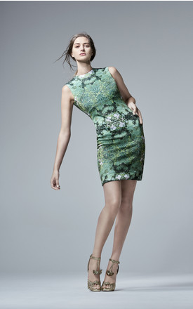 Nouveau Garden Body Con Dress by CocooVe Product photo