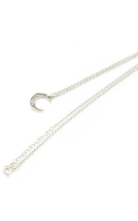 SILVER PETITE LUNE NECKLACE by AVALANCHE JEWELLERY