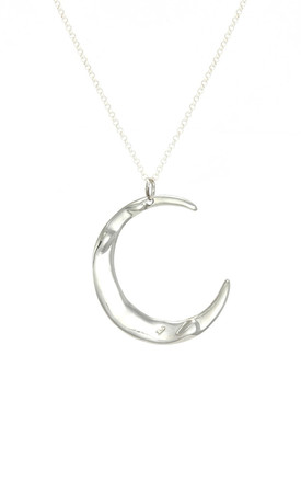Silver Mega Lune Necklace by AVALANCHE JEWELLERY Product photo