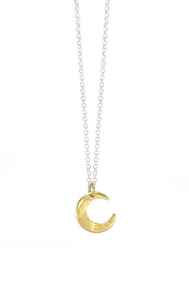 Gold And Silver Petite Lune Necklace by AVALANCHE JEWELLERY Product photo